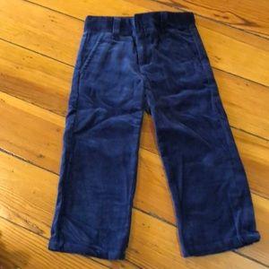 Boys velvet pants